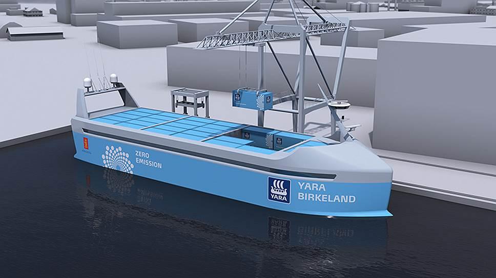 Норвежские компании вырвались вперед в гонке по постройке беспилотного морского грузового судна