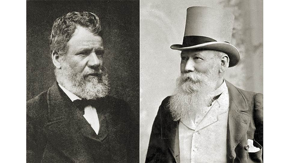 Брат судовладельца Уиллиса (слева), который был на борту, потребовал от капитана Муди (справа), чтобы тот зашел в Кейптаун и встал на ремонт, но капитан далеко его послал и продолжил уже безнадежно проигранную гонку
