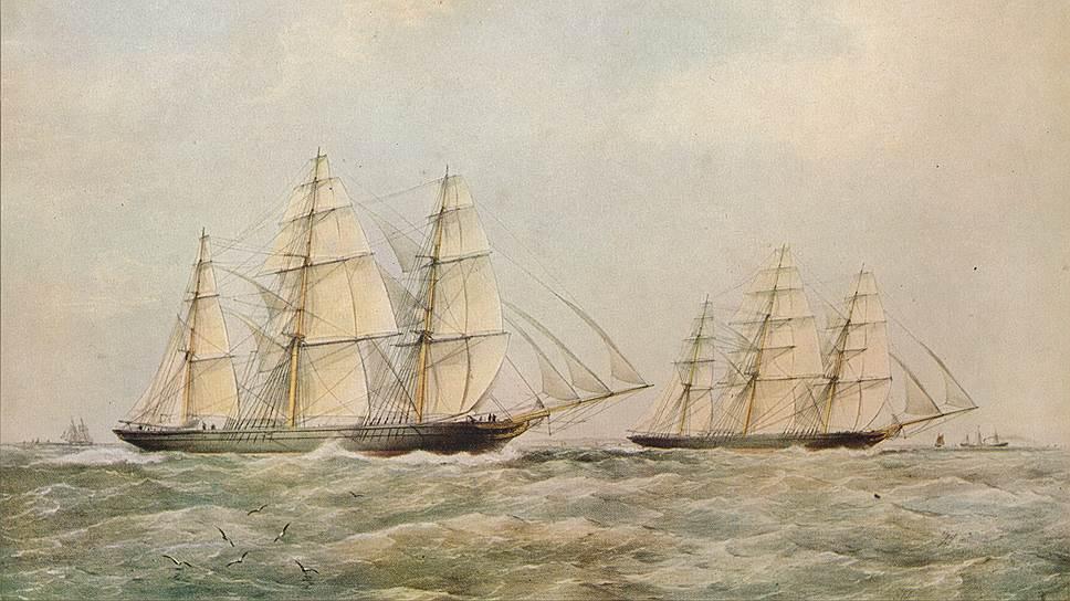 Однако в 1866 году на старт вышли несколько новых клиперов, которые, как полагали, составят ему конкуренцию: «Ариэль», «Тайпин» и «Серика»