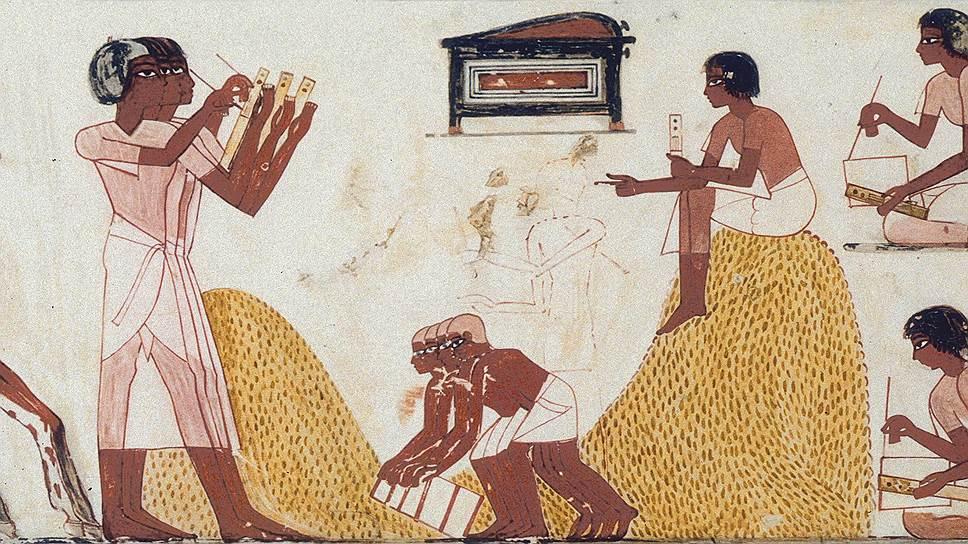 Ключевую роль в сборе налогов в Древнем Египте играла строгая отчетность о количестве собранной пшеницы, которую составляли писцы