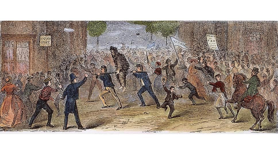 Простые жители Пенсильвании в 1794 году подняли восстание против введения американскими властями акциза на виски