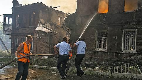 Из-за пожара в центре Ростова-на-Дону введен режим ЧС // Сгорело более 25 домов частного сектора