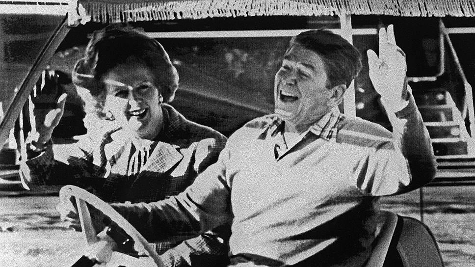 Британский премьер Маргарет Тэтчер и президент США Рональд Рейган вновь привели капитализм в движение