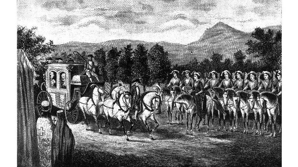 В Крыму Екатерину встречали конные амазонки, которых историки той поры считали предками славян