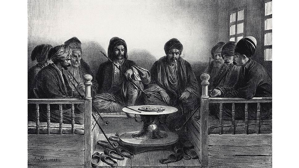 В результате переселения количество крымских греков и армян значительно уменьшилось (на гравюре изображены греки и армяне Карасубазара, современное название — Белогорск)