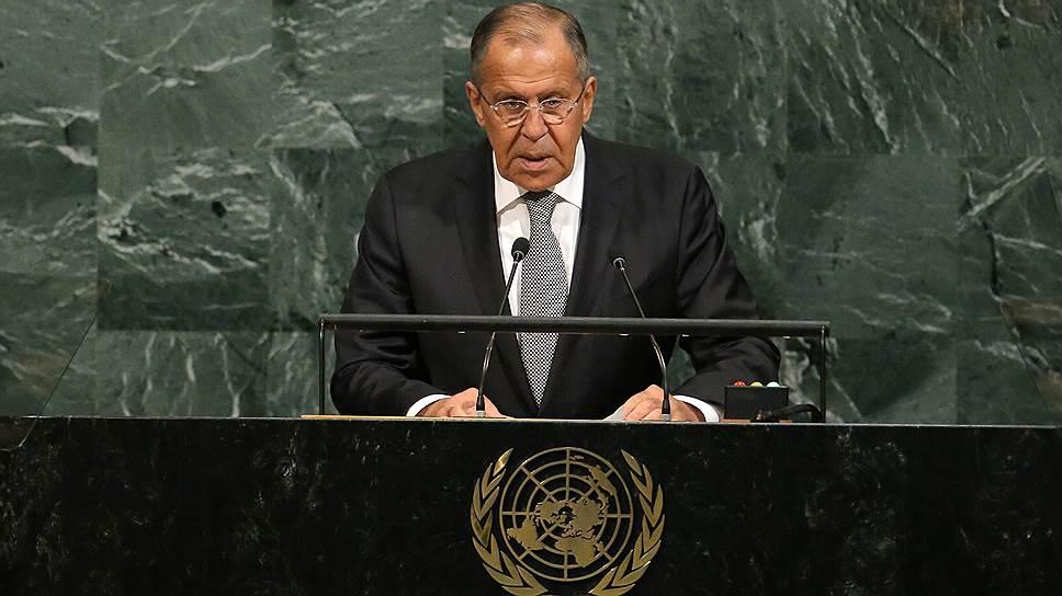 Семь ключевых пунктов выступления Сергея Лаврова на Генассамблее ООН