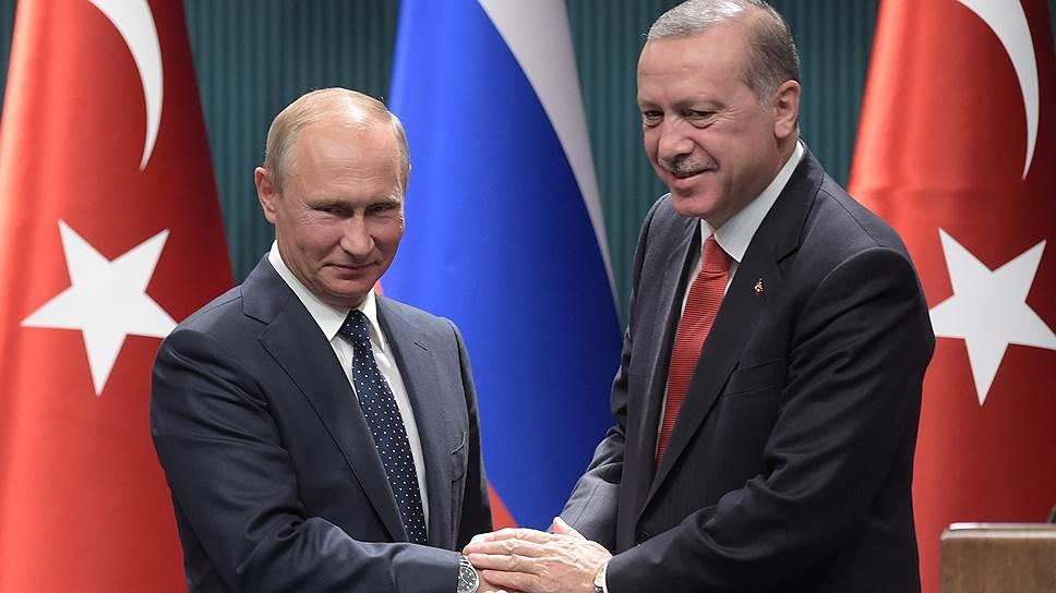 Как Владимир Путин и Реджеп Тайип Эрдоган встретились в Анкаре