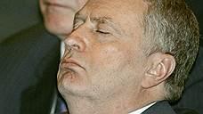 Лидер ЛДПР Владимир Жириновский на торжественном заседании, посвященном 10-летию работы Госдумы, в центральном концертном зале «Россия», 2004 год