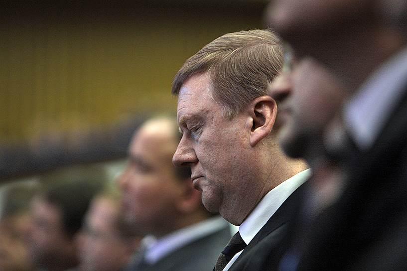 Председатель правления РАО «ЕЭС России» Анатолий Чубайс на заседании первого железнодорожного съезда России в Государственном Кремлевском дворце, 2007 год