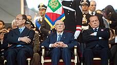 Премьер-министр Италии Сильвио Берлускони (справа) на военном параде в честь 150-летия с момента образования Итальянской Республики, 2011 год