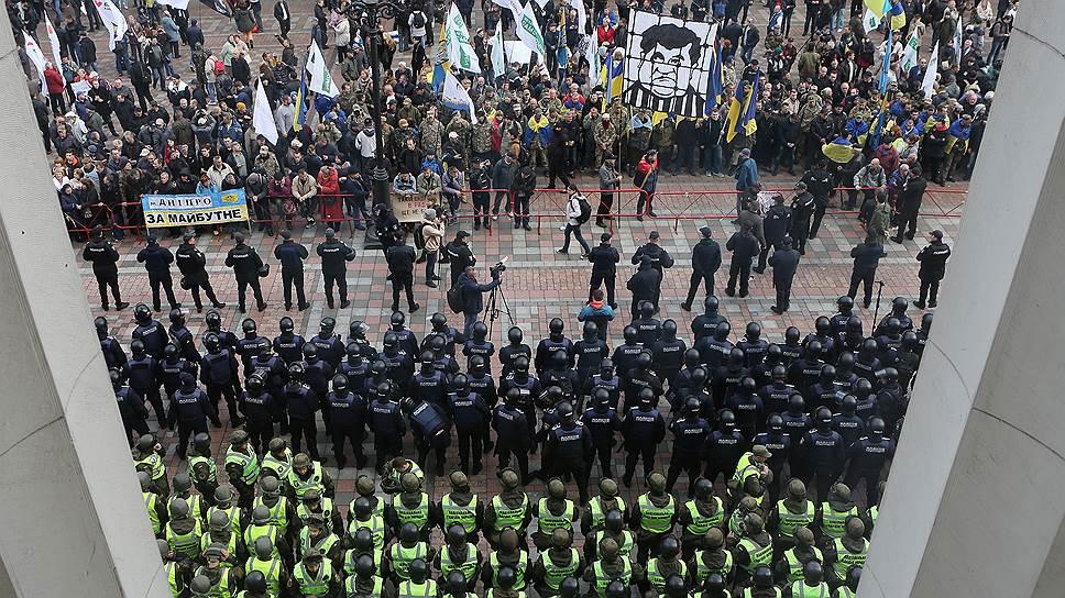 Что стало причиной протестов в центре Киева