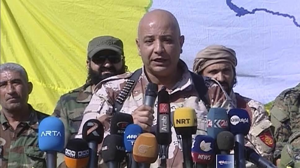 Официальный представитель курдо-арабской коалиции СДС Таляль Силло