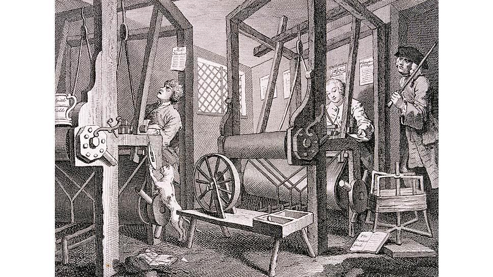 В какой-то момент ткацкое производство было одним из символов промышленной революции
