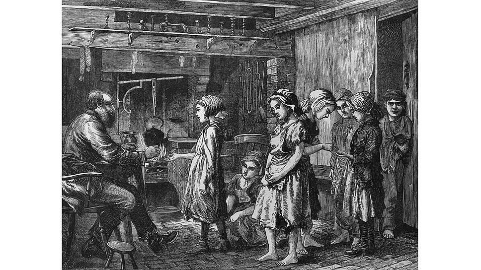 Низкие зарплаты в индустриальной экономике удерживали благодаря женщинам и детям