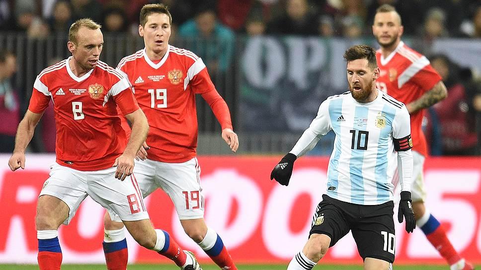 Как Аргентина обыграла Россию на главном стадионе чемпионата мира