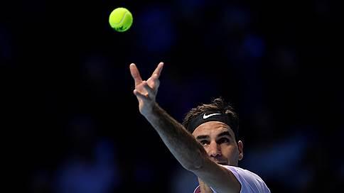 Роджер Федерер начал без потерь // В первом матче итогового турнира он одержал уверенную победу