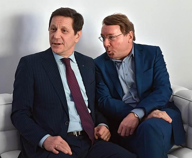 Президент Олимпийского комитета России Александр Жуков и помощник президента по военно-техническому сотрудничеству Владимир Кожин