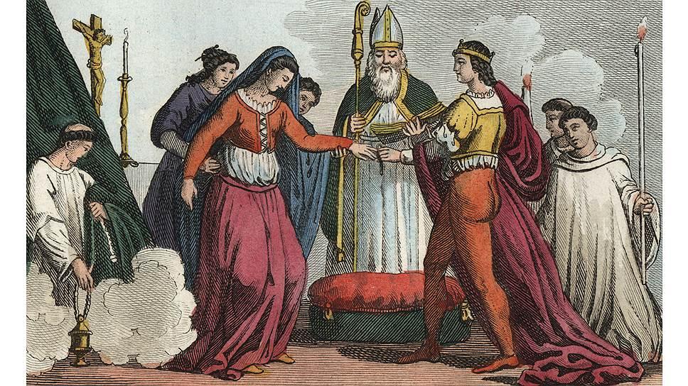 Церковь всегда хотела иметь контроль над браком, начиная с коронованных особ