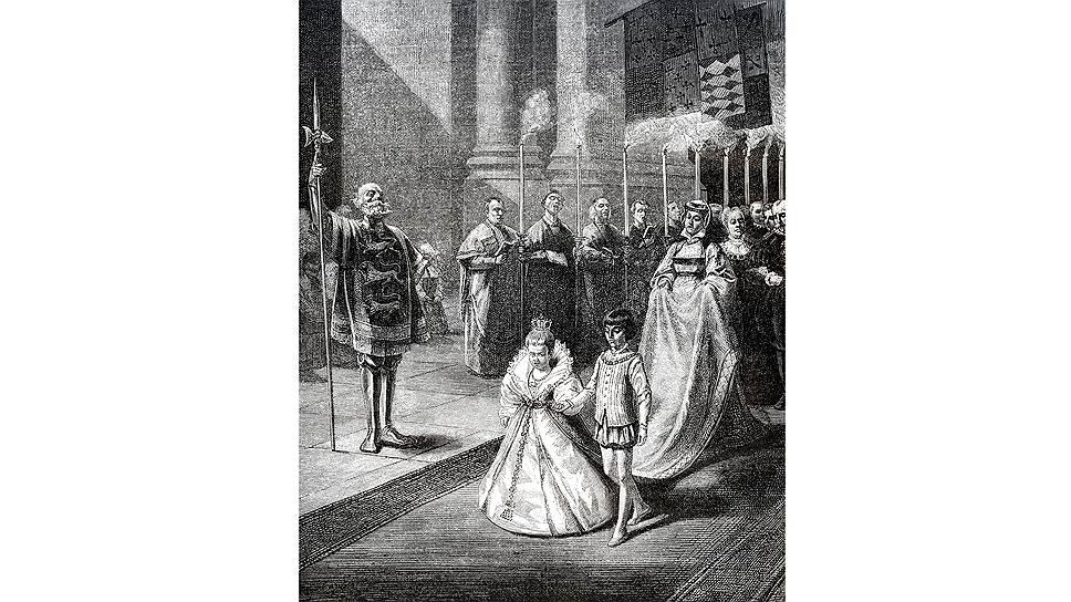 В Средние века титулованные дети привыкали к будущему супругу с малолетства