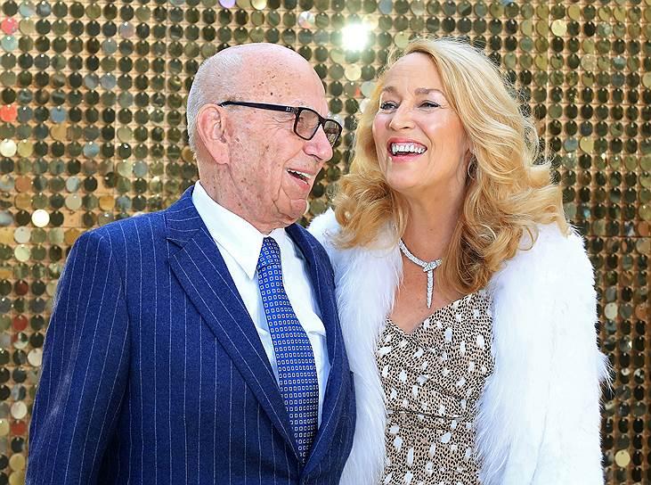 Руперт Мердок и его четвертая жена, модель Джерри Холл