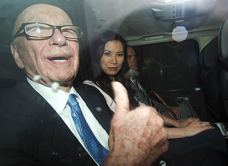 Руперт Мердок и его третья жена Венди Денг (2012 год)