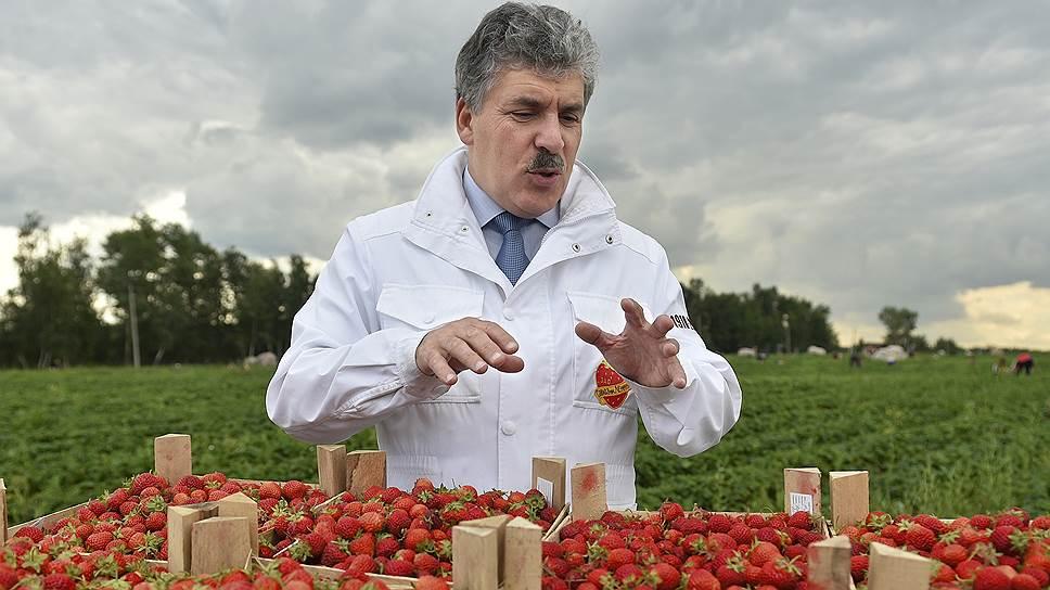 Директор совхоза имени Ленина Павел Грудинин