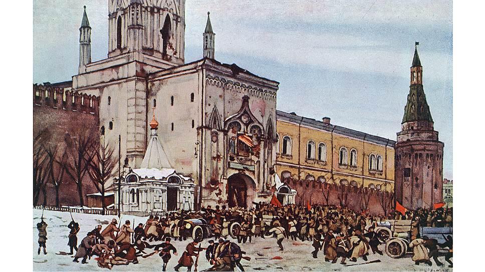 Решение о восстановлении патриаршества было принято, когда в Москве шли уличные бои