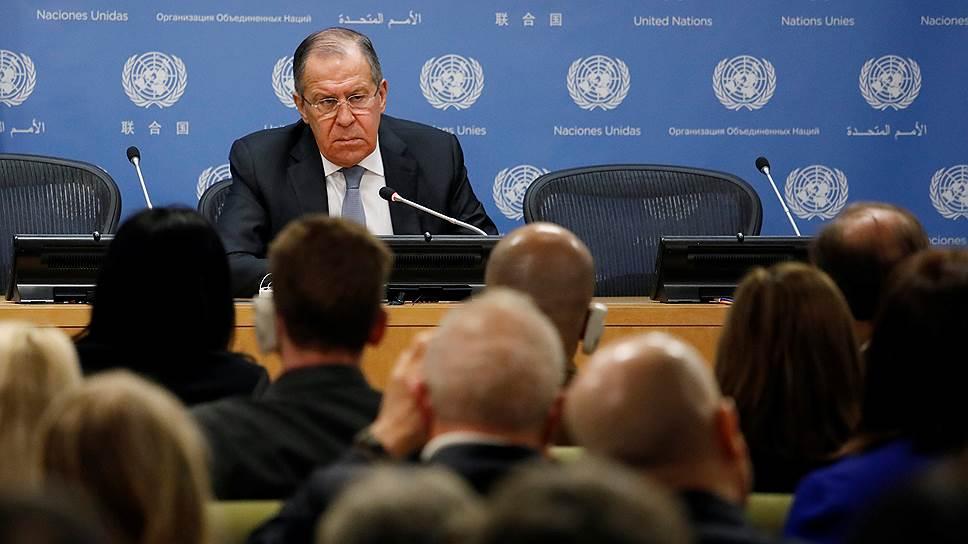 Сергей Лавров дал пресс-конференцию по итогам визита в Нью-Йорк