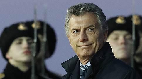 Президент Аргентины ищет инвесторов в России и Давосе // Маурисио Макри прибыл с визитом в Москву