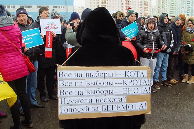 Акция сторонников Алексея Навального в Ростове-на-Дону