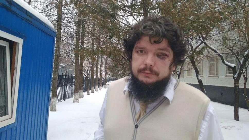 Валентин Карелин после нападения