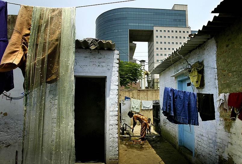 Офисы и трущобы — вполне обычное соседство