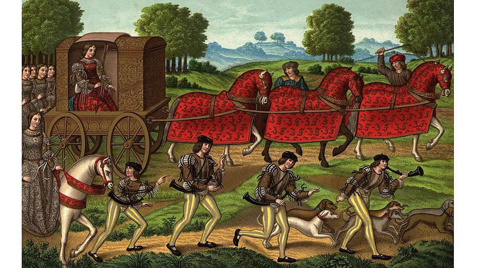 Непременным признаком роскошного образа жизни являлись охота, лошади, собаки и слуги