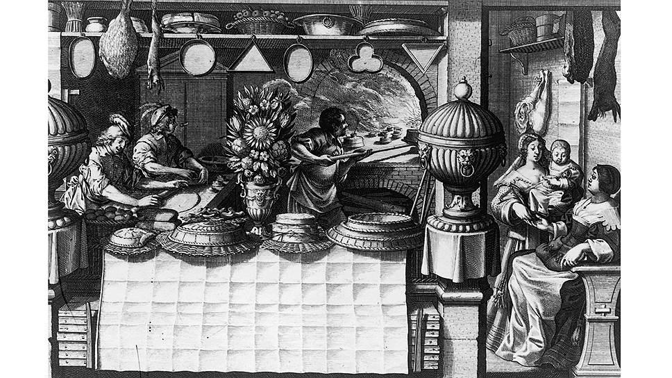 Кухня была очень важным элементом жизни в замке