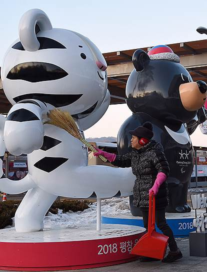 Талисманы Олимпийских и Паралимпийских игр: тигренок Сухоран (Олимпийские игры) и медвежонок Пандаби (Паралимпийские игры)