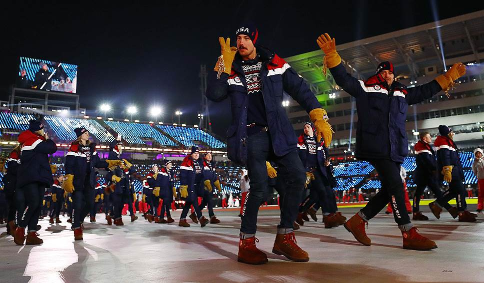Самой многочисленной делегацией оказались спортсмены из США (244 спортсмена)