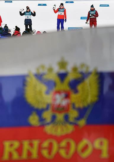 Российская лыжница Юлия Белорукова (справа) завоевала бронзу в спринте классическим стилем