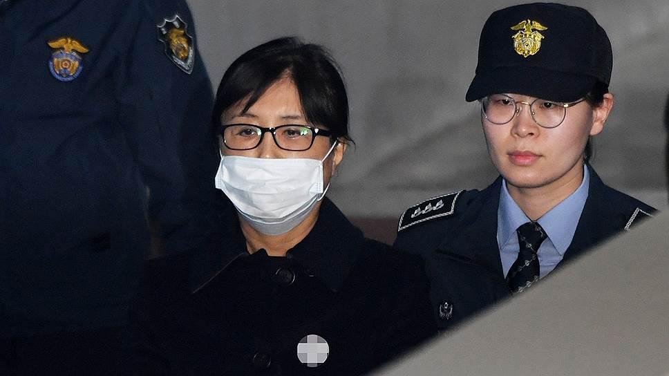Подруга бывшего президента Южной Кореи Пак Кын Хе Чхве Сун Силь