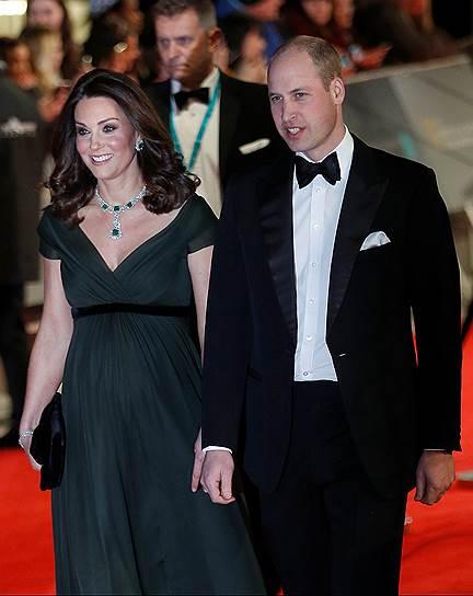 Британский принц Уильям с женой — герцогиней Кембриджской Кэтрин