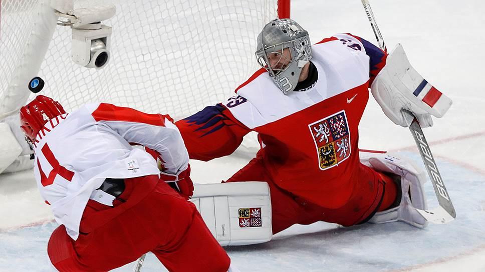 Кадры матча Россия—Чехия