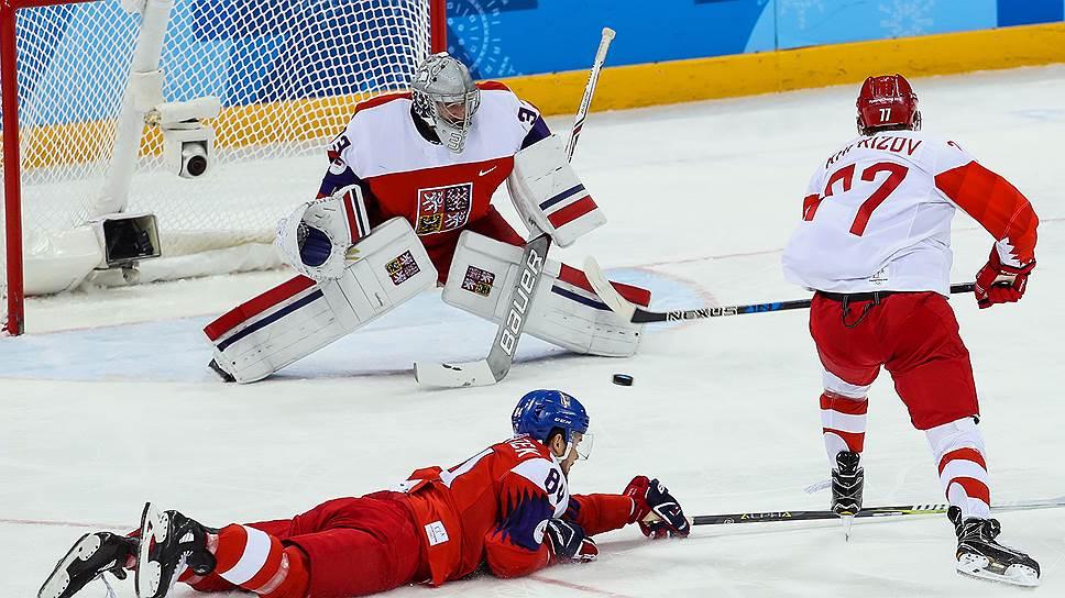Как российские хоккеисты сыграли в полуфинале с чехами