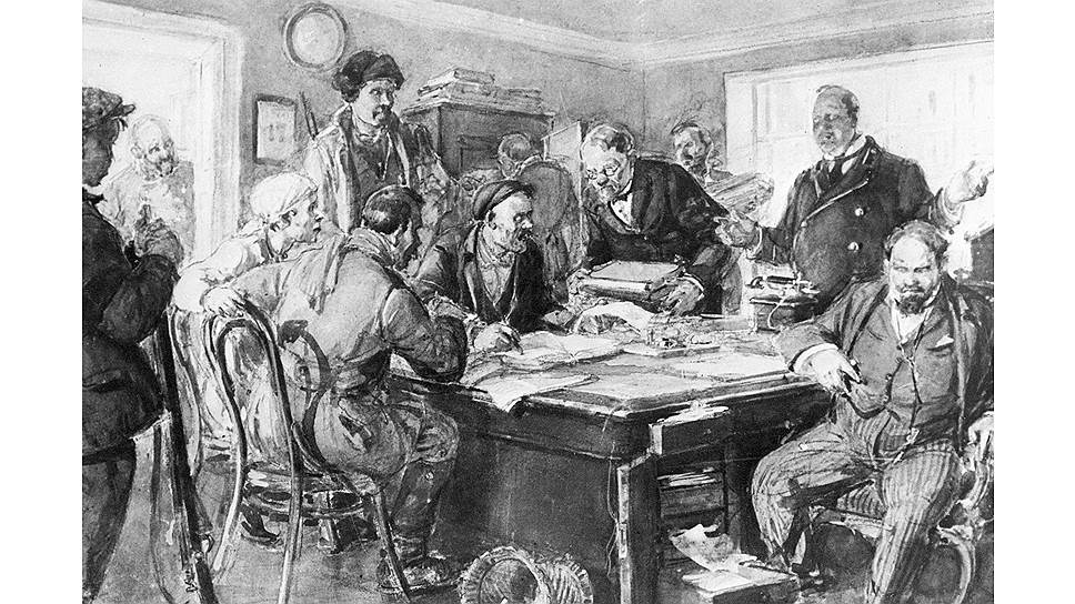 Революционные рабочие и матросы захватили все финансовые организации, включая Госбанк, но денег у советской власти от этого не прибавилось. Пришлось угрожать арестом всем сотрудникам, чтобы добраться до хранилища
