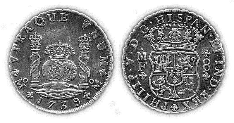 Испанская монета номиналом 8 реалов появилась еще до основания Иоахимсталя, но тем не менее считалась полноценным талером