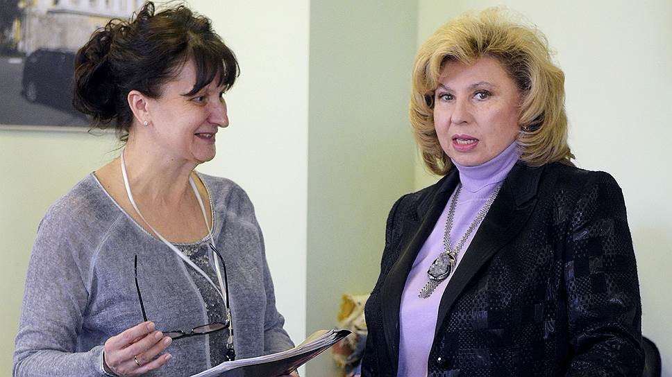 Омбудсмен Татьяна Москалькова (справа)