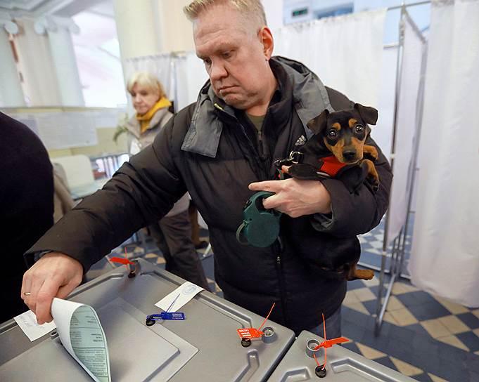 Голосование на выборах президента РФ в Санкт-Петербурге