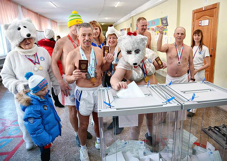 Голосование на выборах президента РФ в Барнауле