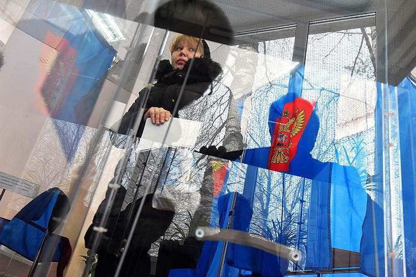 Выборы президента РФ в поселке Шапки Ленинградской области