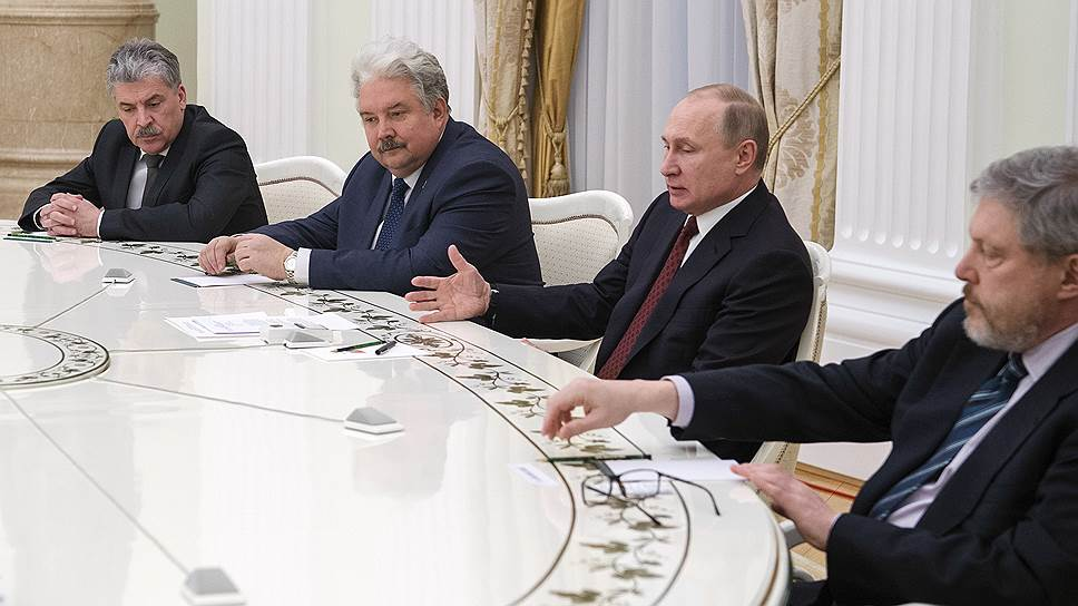 Как кандидаты в президенты собрались в Кремле