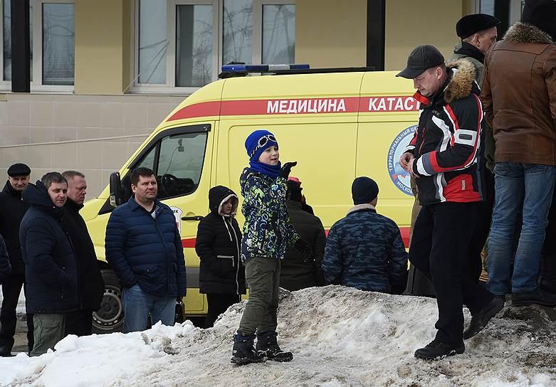 Жители Волоколамского района, вышедшие на митинг в связи с ситуацией на мусорном полигоне «Ядрово»