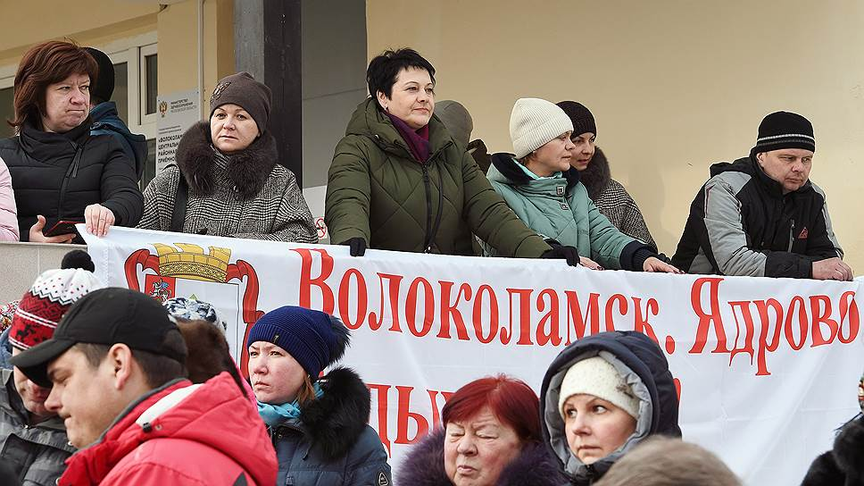 Репортаж Александра Черных с места протестов в Волоколамске